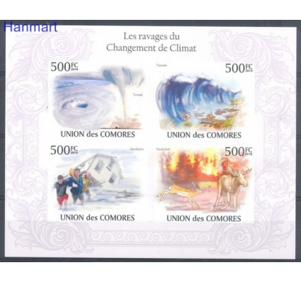 Znaczek Komory 2010 Mi ark 2741-2744B Czyste **