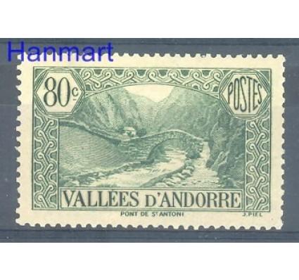 Andora Francuska 1939 Mi 67 Czyste **