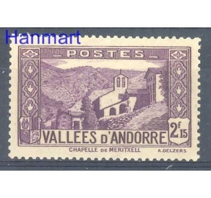 Znaczek Andora Francuska 1938 Mi 72 Czyste **