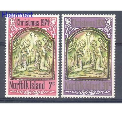 Znaczek Norfolk 1974 Mi 158-159 Czyste **