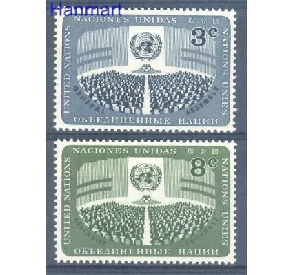 Znaczek Narody Zjednoczone Nowy Jork 1956 Mi 51-52 Czyste **