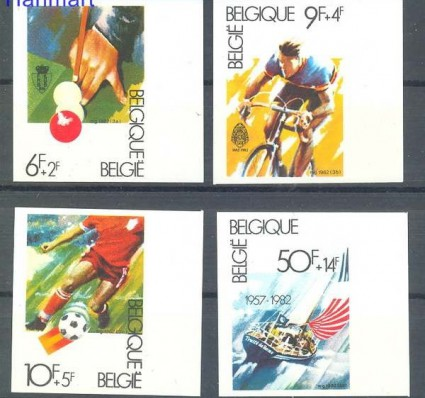 Znaczek Belgia 1982 Mi 2091-2094B Czyste **