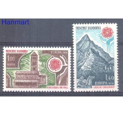 Znaczek Andora Francuska 1978 Mi 290-291 Czyste **