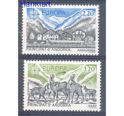 Znaczek Andora Francuska 1986 Mi 369-370 Czyste **