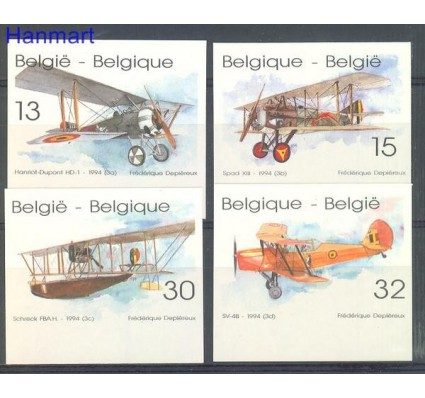 Znaczek Belgia 1994 Mi 2594-2597B Czyste **