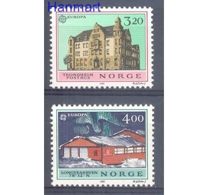 Znaczek Norwegia 1990 Mi 1046-1047 Czyste **