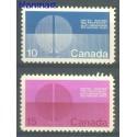 Kanada 1970 Mi 456-457x Czyste **
