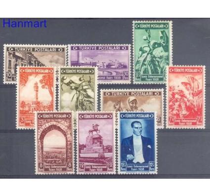 Znaczek Turcja 1938 Mi 1019-1028 Z podlepką *