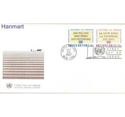Znaczek Narody Zjednoczone Nowy Jork 1967 Mi 187-188 FDC