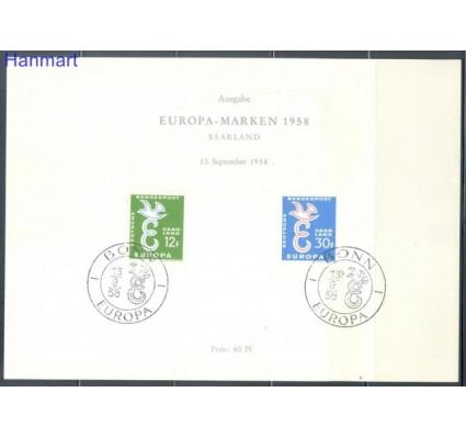 Znaczek Niemcy 1958 Mi 439-440 Pierwszy dzień wydania