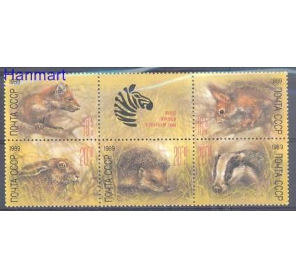 Znaczek ZSRR 1989 Mi 5935-5939 Czyste **