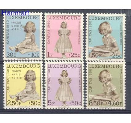 Znaczek Luksemburg 1960 Mi 631-636 Z podlepką *