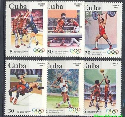 Znaczek Kuba 1983 Mi 2716-2721 Czyste **