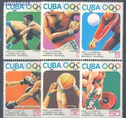Znaczek Kuba 1984 Mi 2868-2873 Czyste **