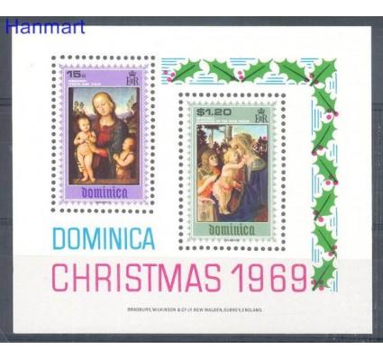 Znaczek Dominika 1969 Mi bl 1 Czyste **