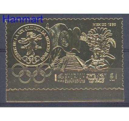 Znaczek Sharjah 1968 Mi gold 501 Czyste **