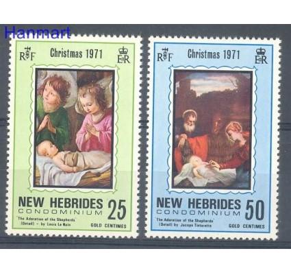 Znaczek Nowe Hebrydy 1971 Mi 311-312 Czyste **