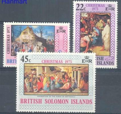 Znaczek Wyspy Salomona 1973 Mi 248-250 Czyste **