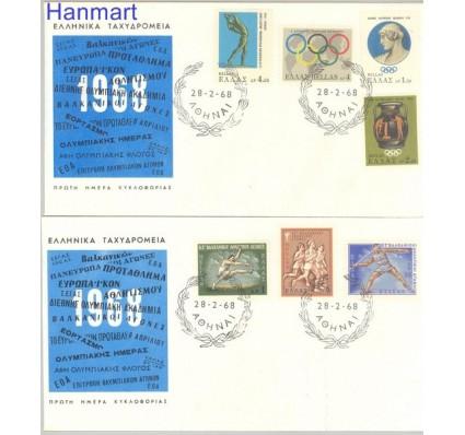 Znaczek Grecja 1968 Mi 966-972 FDC