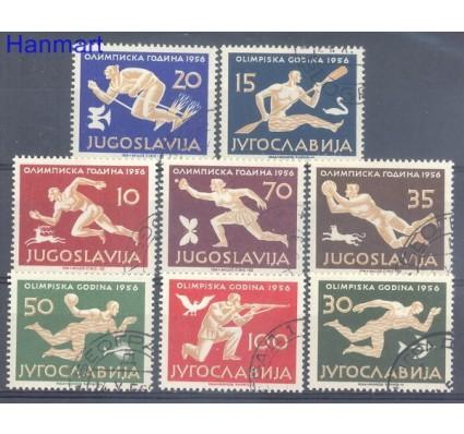 Znaczek Jugosławia 1956 Mi 804-811 Stemplowane