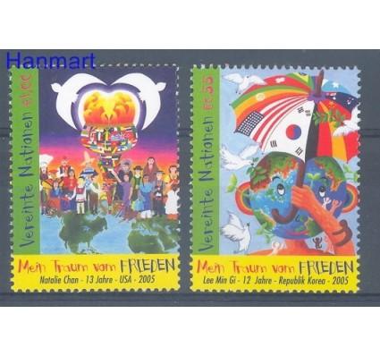 Narody Zjednoczone Wiedeń 2005 Mi 451-452 Czyste **