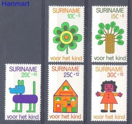 Znaczek Surinam 1973 Mi 658-662 Czyste **