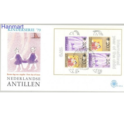 Znaczek Antyle Holenderskie 1979 Mi bl 11 FDC