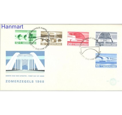 Holandia 1968 Mi 894-898 FDC