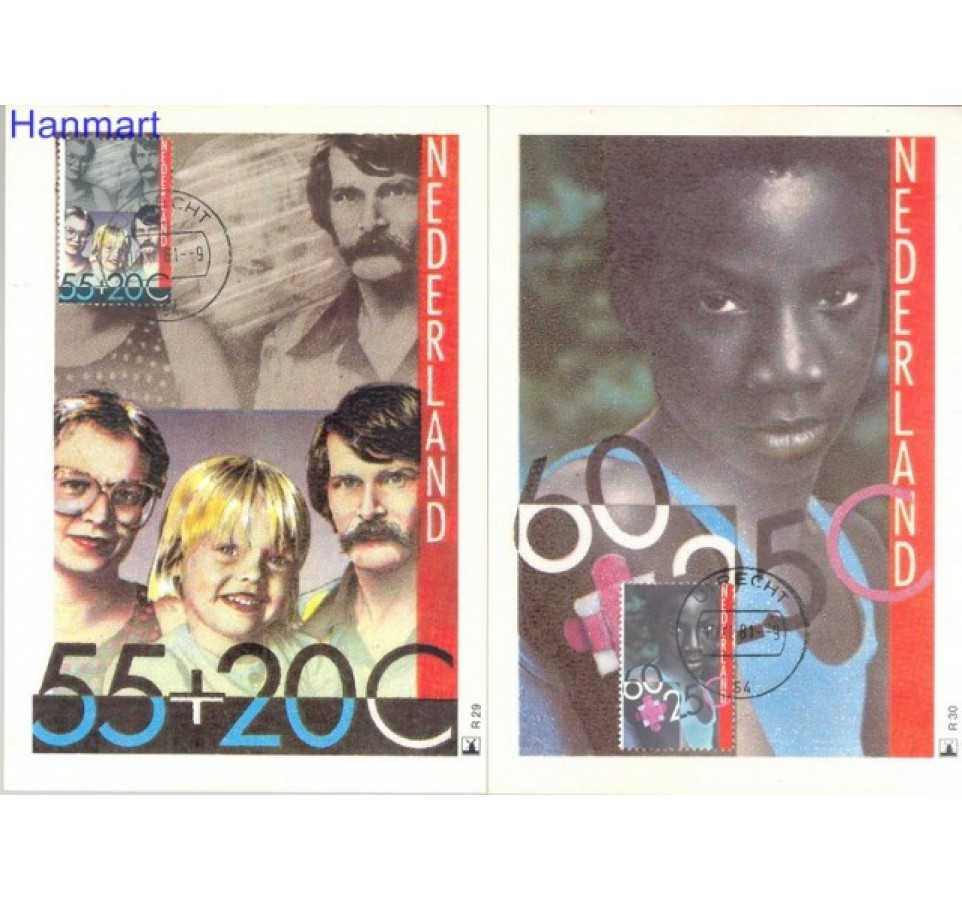 Holandia 1982 Mi 1193-1196 Karta Max