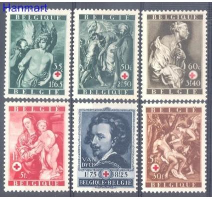 Znaczek Belgia 1944 Mi 658-663 Czyste **