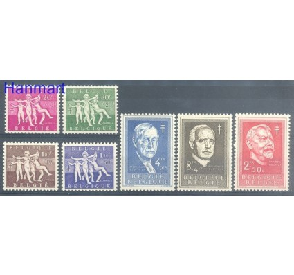 Znaczek Belgia 1955 Mi 1028-1034 Czyste **