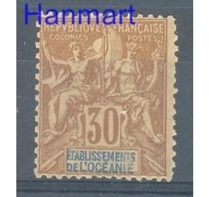 Znaczek Oceania Francuska 1892 Mi 9 Z podlepką *