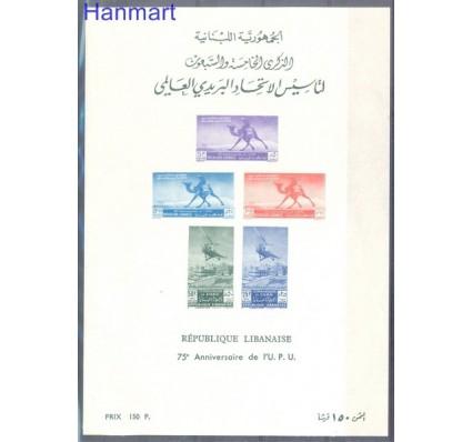 Znaczek Liban 1949 Mi bl 12 Czyste **