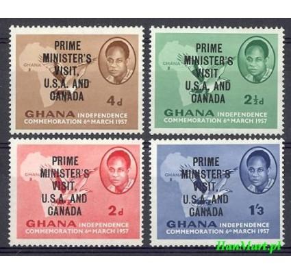 Znaczek Ghana 1958 Mi 32-35 Czyste **
