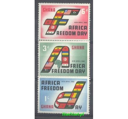 Znaczek Ghana 1960 Mi 77-79 Czyste **