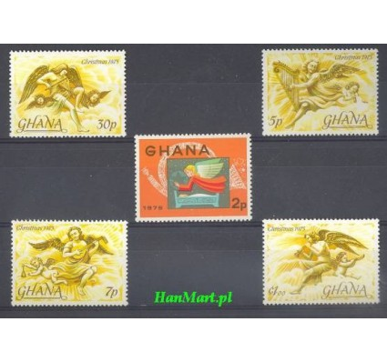 Znaczek Ghana 1975 Mi 621-625 Czyste **