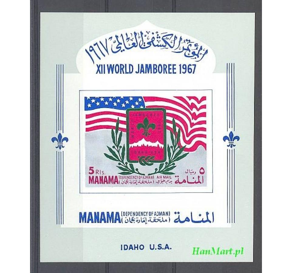 Manama 1967 Mi bl 1 Czyste **