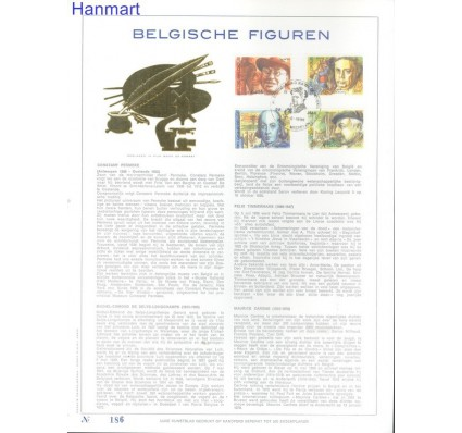 Znaczek Belgia 1986 Mi 2277-2280 Pierwszy dzień wydania