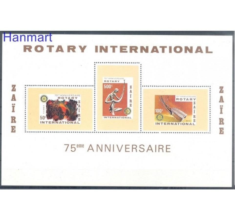 Kongo Kinszasa / Zair 1980 Mi bl 37 Czyste **