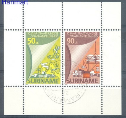 Znaczek Surinam 1985 Mi bl 42 Stemplowane