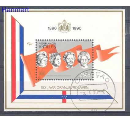 Znaczek Antyle Holenderskie 1990 Mi bl 36 Stemplowane
