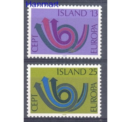 Znaczek Islandia 1973 Mi 471-472 Czyste **