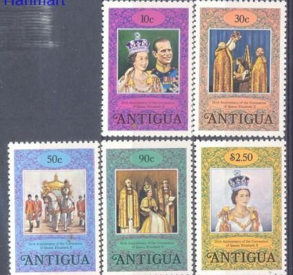 Znaczek Antigua i Barbuda 1978 Mi 504-508C Czyste **