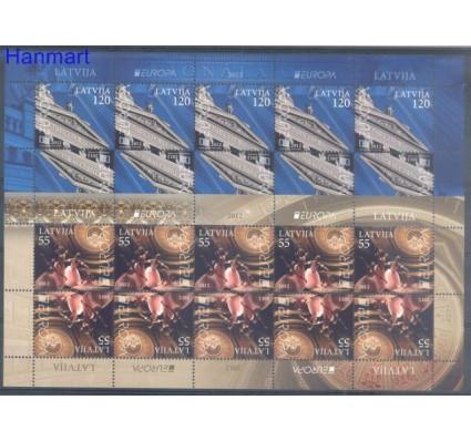 Znaczek Łotwa 2012 Mi ark 829-830 Czyste **