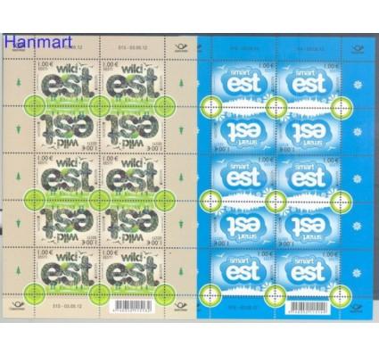 Znaczek Estonia 2012 Mi ark 733-734 Czyste **