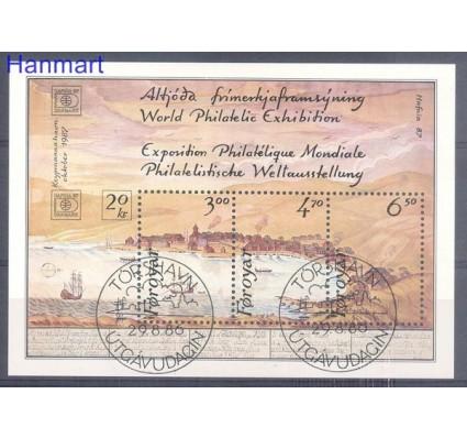 Wyspy Owcze 1986 Mi bl 2 Stemplowane