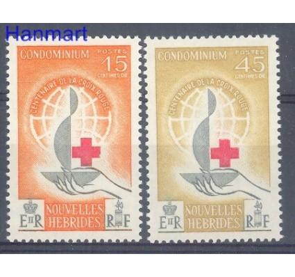Znaczek Nowe Hebrydy 1963 Mi 198-199 Czyste **