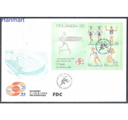 Znaczek Finlandia 1994 Mi bl 12 FDC