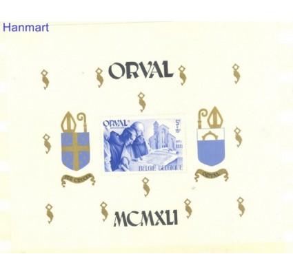 Znaczek Belgia 1941 Mi bl 12 Z podlepką *