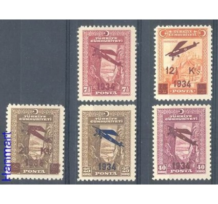 Turcja 1934 Mi 980-984 Czyste **